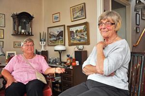 UNDRANDE. Lena Lindgren och Ester Hedin, Mehedeby, är båda beroende av hjälp med snöskottning. Nu undrar de om de kan bo kvar i sina villor då Servicelaget lagts ned.
