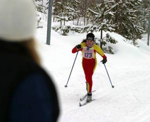 Sanna Lindblom, Sveg, hade bra flyt i den klassiska åkningen.