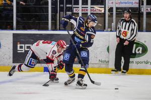 Viktor Hertzberg och hans Sundsvall Hockey säkrade uppflyttning i och med seger över Södertälje förra säsongen. Nu möts de i kvalserien igen.