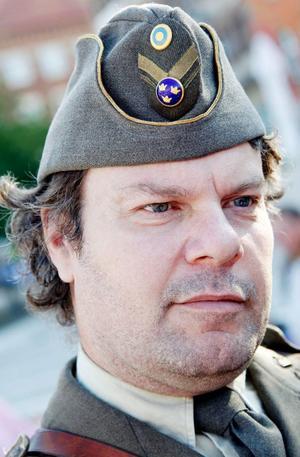 Mikael Andersson, sekreterare i Jämtland Fältartilleri, en militärkulturhistorisk förening.