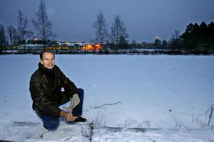 Olov Dahlin var en av dem som år 2007 lanserade idén om en hälsopark vid Fjärran Höjder och hoppades på politikernas stöd. Nu säger Gävle kommun nej till att vara medfinansiär.