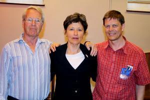Professor Sven Britton, Kristina Hillgren från Maria beroendemottagning och smittskyddsläkare Signar Mäkitalo deltog vid dagen om missbrukares hälsa.