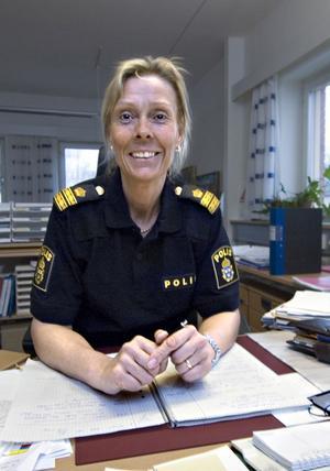 Helena Sundberg, närpolischef i Bollnäs och Ovanåker.
