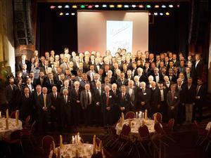 128 medlemmar från förr och nu samlades då Sveriges äldsta gymnasieförening fyllde 150 år i helgen.