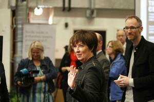 Mona Sahlin besökte i Automation center i Kopparlunden i Västerås på torsdagen.