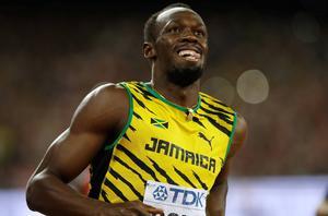 Usain Bolt tog VM-guld på 100 meter under söndagen.