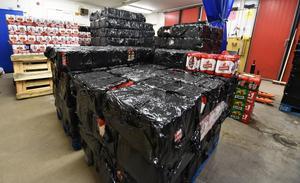Tullen i Idre, en del av det stora tullbeslaget med bland annat nära 10 000 liter öl.