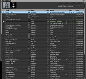 """SVART MUSIK. Spotify-listan till Konstcentrums utställning """"Om ljuset tar oss""""."""