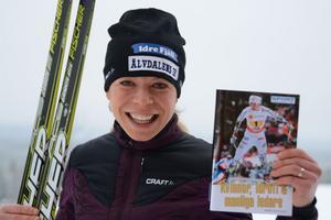 Maria rydqvist visade upp sin nya bok under ett träningsläger i Idre.