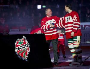 Anders Hedberg hyllades av Modo i slutet av december. Nu blir han invald i Hall of Fame.