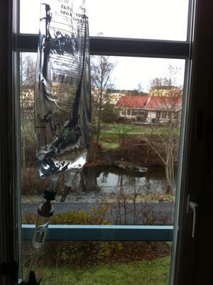 Höstdepp från sjukhusfönstret.