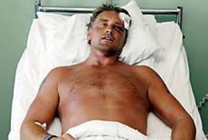 Arkivbild Får pris. Hasse Persson hamnade på sjukhus sedan han gripit in för att försvara ett handikappat par. Nu får han kristdemokraternas årliga vitsippspris för sitt mod.