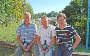 Den lokala förankringen är viktig för bryggartrion Ture Eriksson, Göran Wallander och Patric Skoglund. Foto: Annki Hällberg/DT