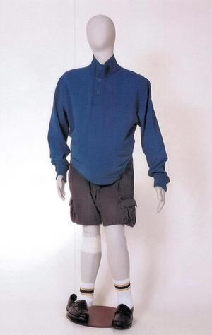 Den upphittade mannen var klädd i kläder liknande de på bilden.