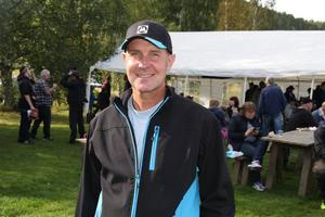 Peder Persson, ordförande för Mellanskog i södra Hälsingland var glad över att många besökare kom till familjeskogsdagen.