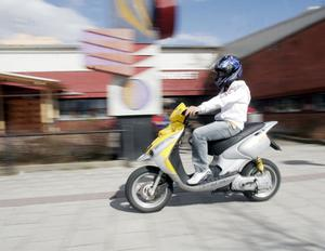 Mopedrånet inträffade vid sjutiden i morse (mopeden på bilden har inget med artikeln att göra)
