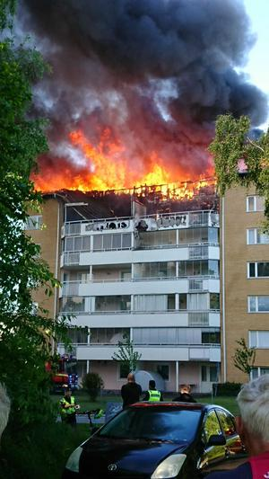 Branden i flerfamiljshuset på Näckrosvägen 2.