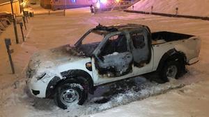 En bil brann under onsdagskvällen.