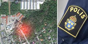 De två personerna greps av polis på Vasagatan, mellan Rodengymnasiet och busstorget i Norrtälje.