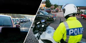 En motorcykelpolis i Rättvik stoppade en förare som kört vårdlöst på riksväg 70, som då var extra hårt trafikerat på grund av Classic Car Week som pågick. Bilden har inget med händelsen att göra.