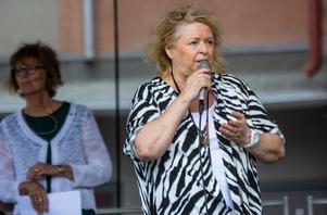 Kikki Danielsson, en av årets kulturstipendiater, pratade om svårigheten med att bli profet i sin egen hemstad.