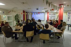 Omkring 15 personer kom till rekryteringsträffen på Söderhamns-Kuriren i Söderhamn.