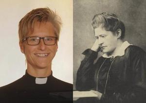 Ungdomsprästen Karolina Pernling från Mora församling får priset som har fått sitt namn efter  teologen Lydia Wahlström. Foto: Västerås stift