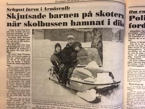 Glenn Wessman med sonen Fredrik och kompisen Per Edblom.