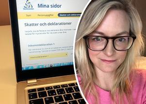 Sofia Gustafsson är deklarationsexpert på Skatteverket i Dalarna. Foto: Jan Svensson och Privat.