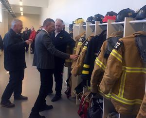 Räddningstjänsten i Hede har fått väl anpassade lokaler för sin verksamhet.