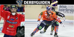 Simon Jansson och Per Hellmyrs – två nyckelspelare för sina lag när säsongens första derby ska avgöras på Sävstaås.