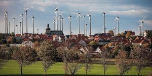 Vindkraftspark i tyska Struth.