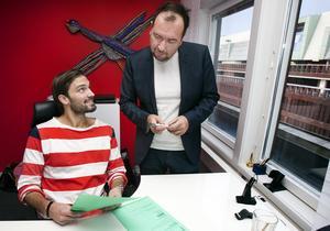 Magnus Odéen (höger), vd för Frank & co, som tidigare var marknadschef för Quicknet Västerås. Bild: Rune Jensen