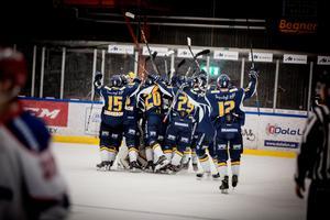 Borlänge jublar efter segern i Hockeyettans final mot Huddinge.