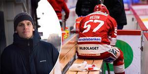 Anton Wedin lämnar Timrå IK och inom ett par veckor beräknas en ny klubbadress vara klar. Nu berättar stjärnan om det tunga avslutet på säsongen.