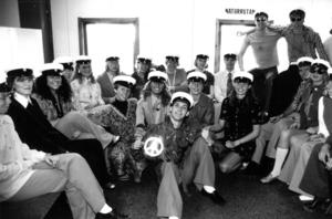 Andra valde 70-talet som tema inför en studentfest 1991.