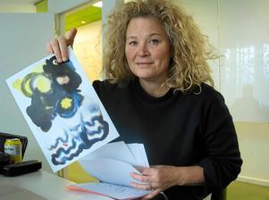 Stina Wirsén var en av konstnärerna i utställningen.