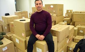 Majid Alzahairi har fått den första leveransen av varor.
