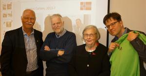 Jan Wikander, Sam Westerholm, Inger Wikander och Henrik Lindberg. Foto: Privat