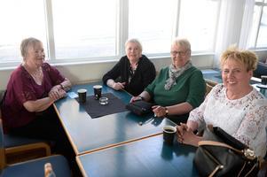 Barndomsvännerna Margareta Bylund, Mona Fagerström, Britt-Marie Melin och Kicki Sedin.
