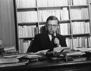 Jean-Paul Sartre, existentialist och stalinist. Foto: AP