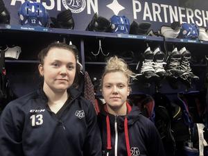 Hanna Sköld och Wilma Johansson är tudelade när det gäller importerna i SDHL. De tycker det är bra att de kommer hit – och båda är inne på att tio lag hade varit för många, om man bara valt att satsa på svenska spelare.