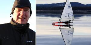 Bernhard Rost och isjakt  på Orsasjön