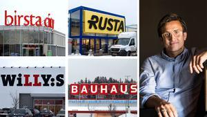 Några av ägarna till  butikslokalerna i Brista gör en bra förtjänst. En av de större är NP3 Fastigheter, med vd-n Andreas Nelvig.