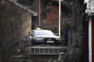 Den svarta Audin var sannolikt målet för sprängladdningen. Foto: Pontus Lundahl / TT