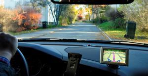 Hur trafiksäkert är det att köra med hjälp av GPS?Foto: Leif R Jansson