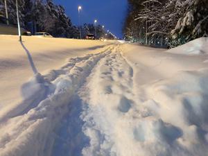 Skribenten riktar kritik mot planeringen av snöröjning i Östersund. Arkivbild.