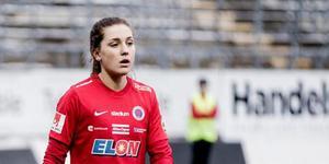 Akrivbild: Emma Lindén i KIF-tröjan år 2018.