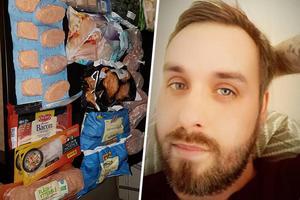 Då Dennis Bobzien skulle flytta från Grängesberg till Piteå och inte ville slänga alla matvaror som han hade i sin frys lade han upp en bild på matvarorna i Facebookgruppen