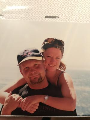 Micke och Sofie under en utflykt i Kapstaden.